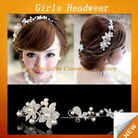 2015 newest bridal hair accessories diamond artificial flowers tiaras SFUH-106