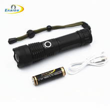 XHP50 LED Flashlight powerful 30000 lumens USB Zoom 5 mode Aluminum waterproof camping for 18650 Rechargeable battery