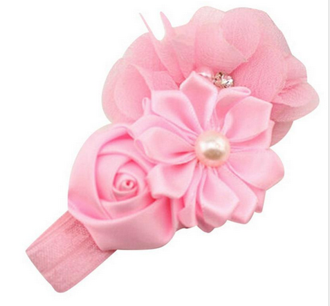Lace Headband Kids Flower Pattern Hair Accessories For Girls Princess Hairband Accessoi