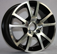 Fashion wheel in here with 10 rays black alloy wheel rims
