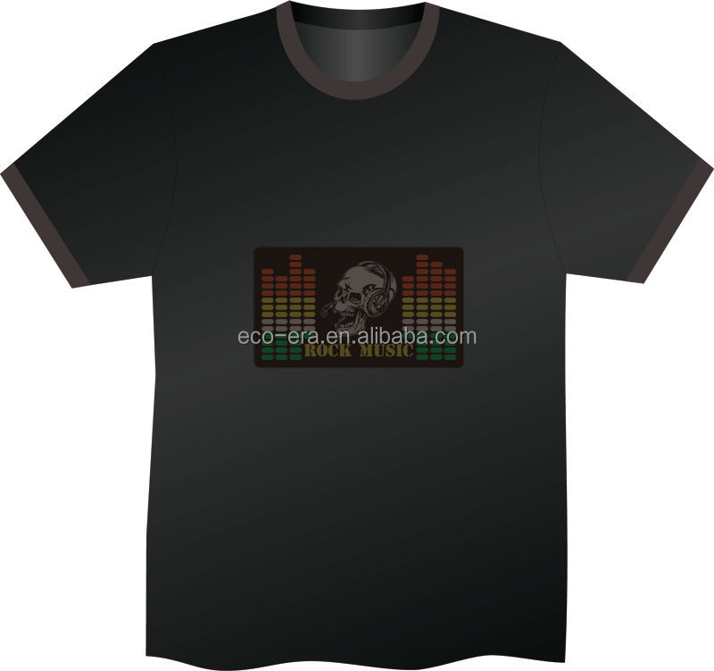 New 2014 Alibaba Express New Product High Quality Sound <strong>Activated</strong> Programmable Led T shirt Wholesale Order Direct From Factory
