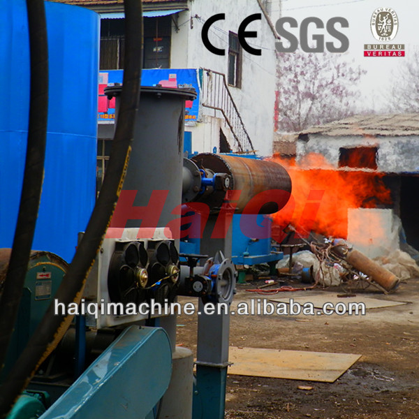 plastic waste gasifier for hot water boiler