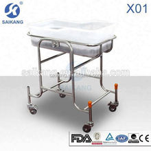 X01 stainless steel baby bassinets, hospital baby cot