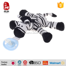 High quality safe material cute baby toys online plush animals with pacifier 2015 Yangzhou supplier