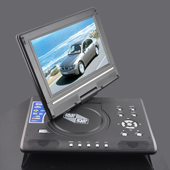 7 inch small display portable dvd player with tv tuner