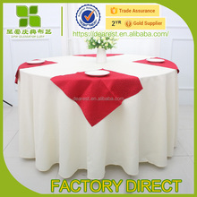 fancy Hotel Linen wedding decorative round decorative tableclothes