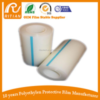 Transparent PE/PVC Self Adhesive Film Roll 80Micron