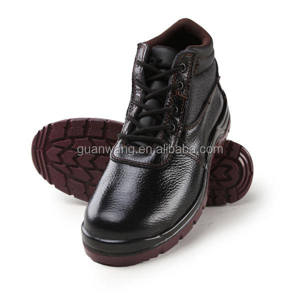 hot sale genuine leather upper material safety shoes steel midsole feature safety shoes (GW901)