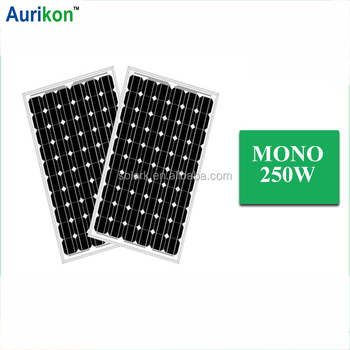 250W Monocrystalline portable solar panel solar charging kit CE TUV UL certificate high efficient