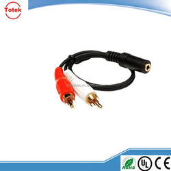 RCA/ TRS plug6.35 multi-core cable for audio equipment
