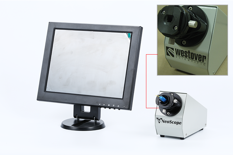 200X optic connector fiber inspection microscope