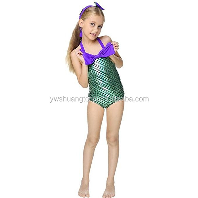 Newest Style Girls Fancy Mermaid Set Swimsuit Swimming Costume Bathing Suit