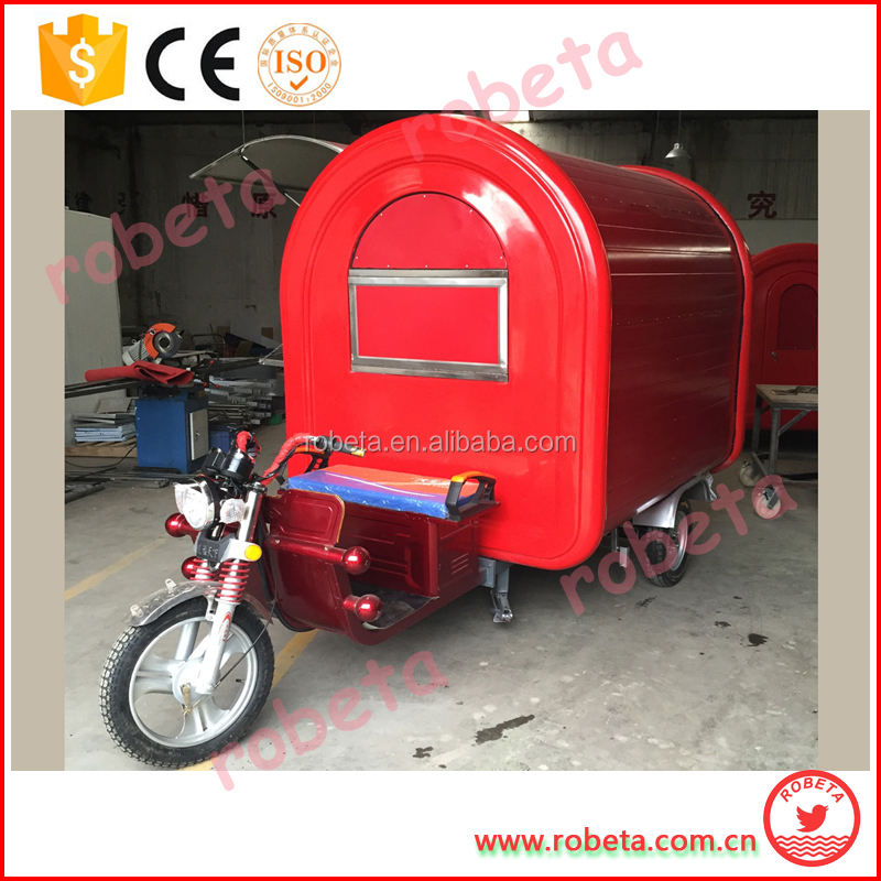 stainless steel food cart franchise master siomai house/3 wheel motorcycle trailer