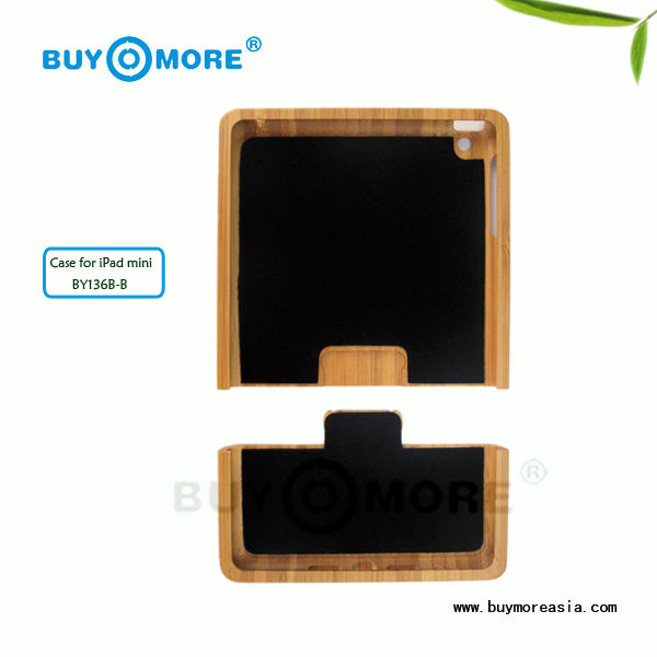 Luxurious gift for bamboo tablet case cover for ipad mini back cover housing with making your logo