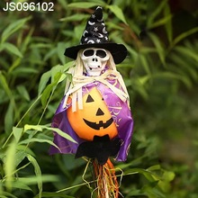 Witch and pumpkin stick, Halloween craft decoration