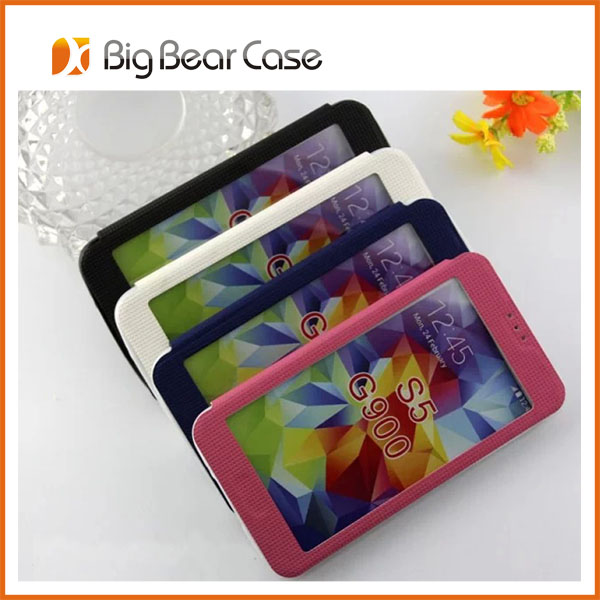 for samsung s5 pu leather wholesale cell phone case