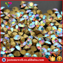 Wholesale Grade AAA Point Back Rhinestone AB Crystal Stone Design for Dress