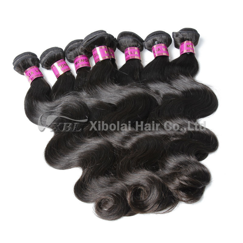 100% Unprocessed 7A Grade Virgin Mongolian Human Hair Weave