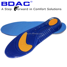 Trimmable Reusable Custom Washable Tpe Sebs Run Unisex Shoe Inserts Sports Shock Absorbing Soft Foot Massage Gel Insole
