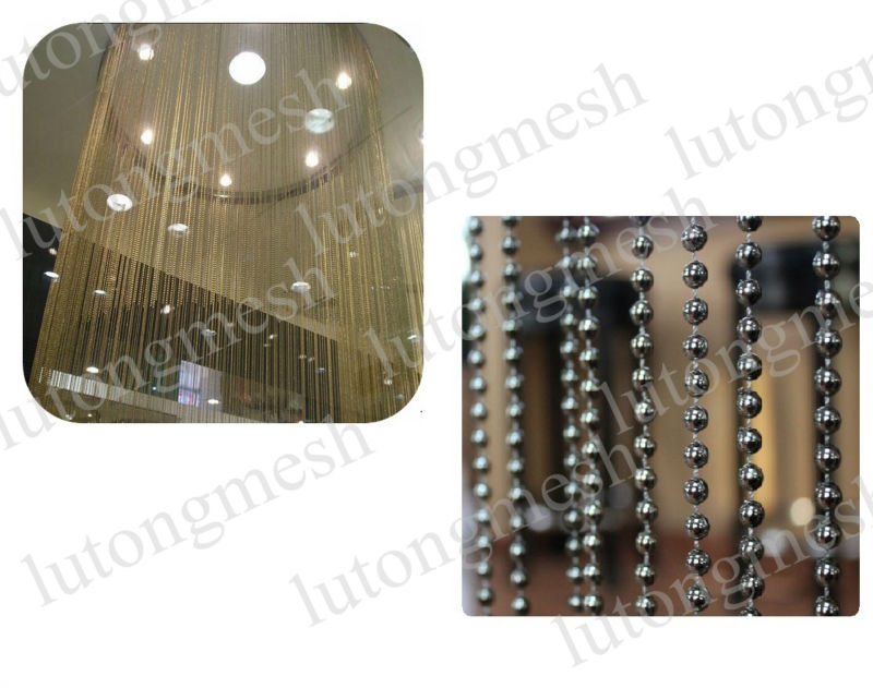 Fashion window/door/wall decoration string curtain,line screen with beads