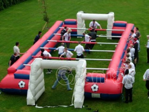 inflatable human football field with steel rope option human table football pitch inflatable. Black Bedroom Furniture Sets. Home Design Ideas