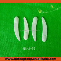 mini white cosmetic spatula scoop disposable curved cosmetic makeup mask spatula plastic spoon beauty tool