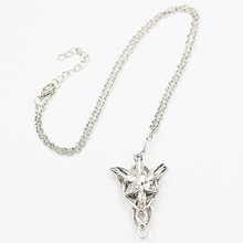Hot Sale The Lord Of Rings Arwen Spirit Princess Jewelry Latest Crystal Silver Plated Dusk Star Pendant Long Chain Necklace