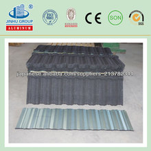 5800mm Color Coated Steel Sheet Sand Stone Coated Metal Roof Tiles