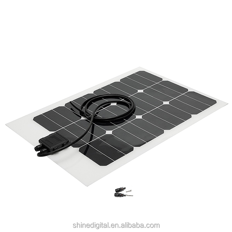 Sunpower Semi flexible 12V 20W 25W 30W 40W 50W 90W 100W 150W OEM Flexible solar panel