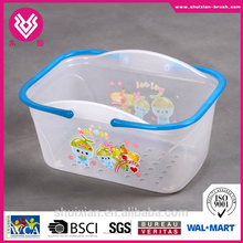 Walmart supplier Transparent Plastic basket Storage basket Plastic Bathroom Basket