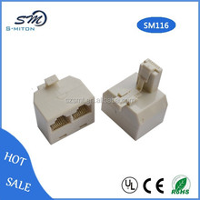 Duplex Wall Jack Adapter,male to 2 female adapter,rj45 jack adapter