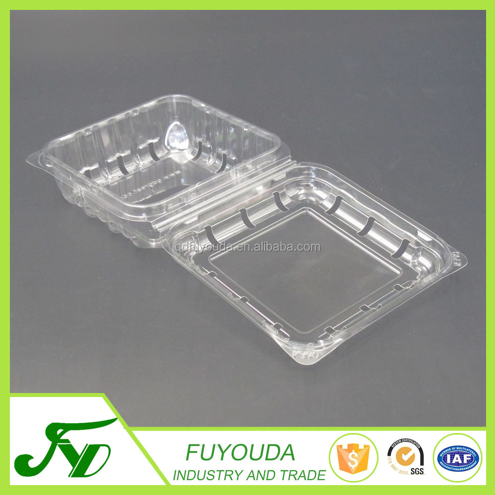 Eco-Friendly disposable transparent blister blueberry plastic fruit tray