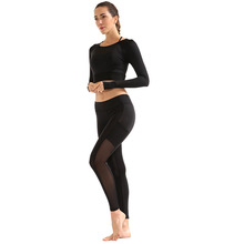 OEM sport wear women sports clothing sets sports tights custom yoga pants fitness shirt