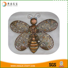 2016 low price metal wire butterfly wall hanging art