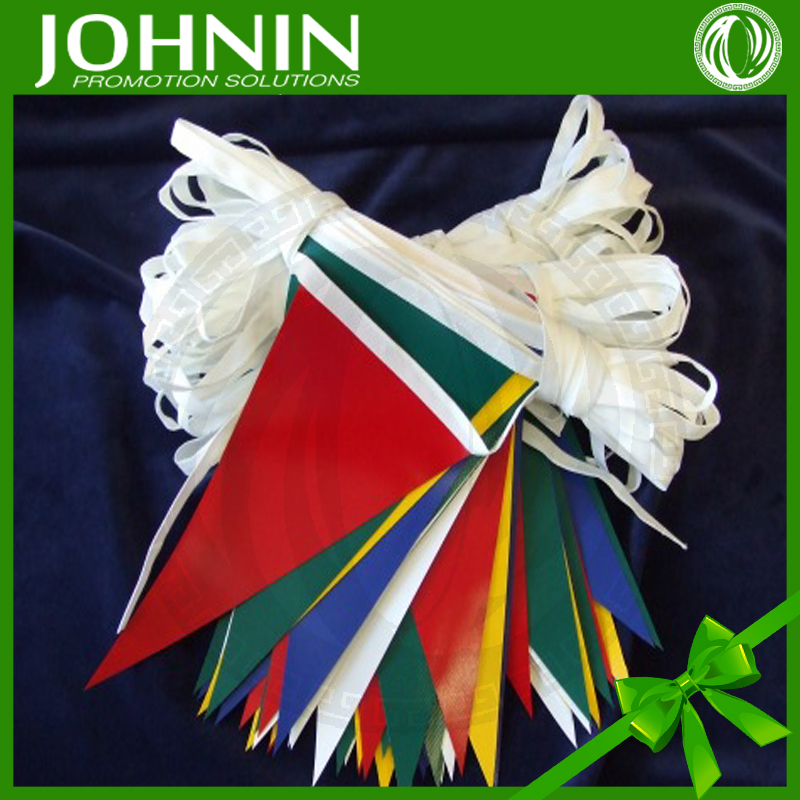 high quality customized hot selling PVC/PE rectangular triangular bunting