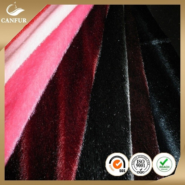 Channeled mink faux fur fabric for fashion garments, luxurious faux fur blanket