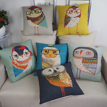 Wholesale custom cartoon bird design print body pillow covers throw cartoon cushion