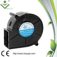 High quality 12v 75mm squirrel cage blower fan