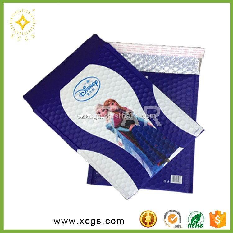 Kids Clothing Packing Colored Foil Bag with Bubble Padded