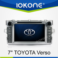 7 inch touch screen 2 din in dash dvd car audio navigation system for Toyota Verso