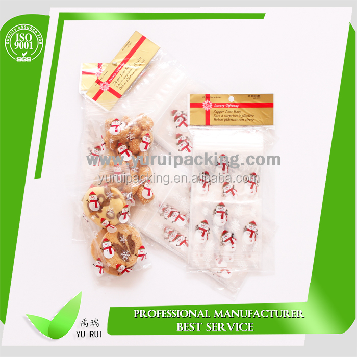 PE food grade snack size zipper