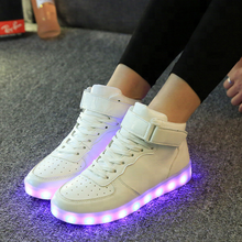 KS0129A Fashion USB charging running shoes adult LED light up sneakers shoes