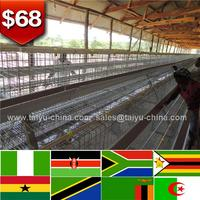 4 tiers Nigeria Ghana Kenya laying hen cages for sale farm