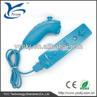 Hot Sale! New Babby Blue Color Remote and Nunchuck Controller for Nintendo Wii With Built in Motion Plus