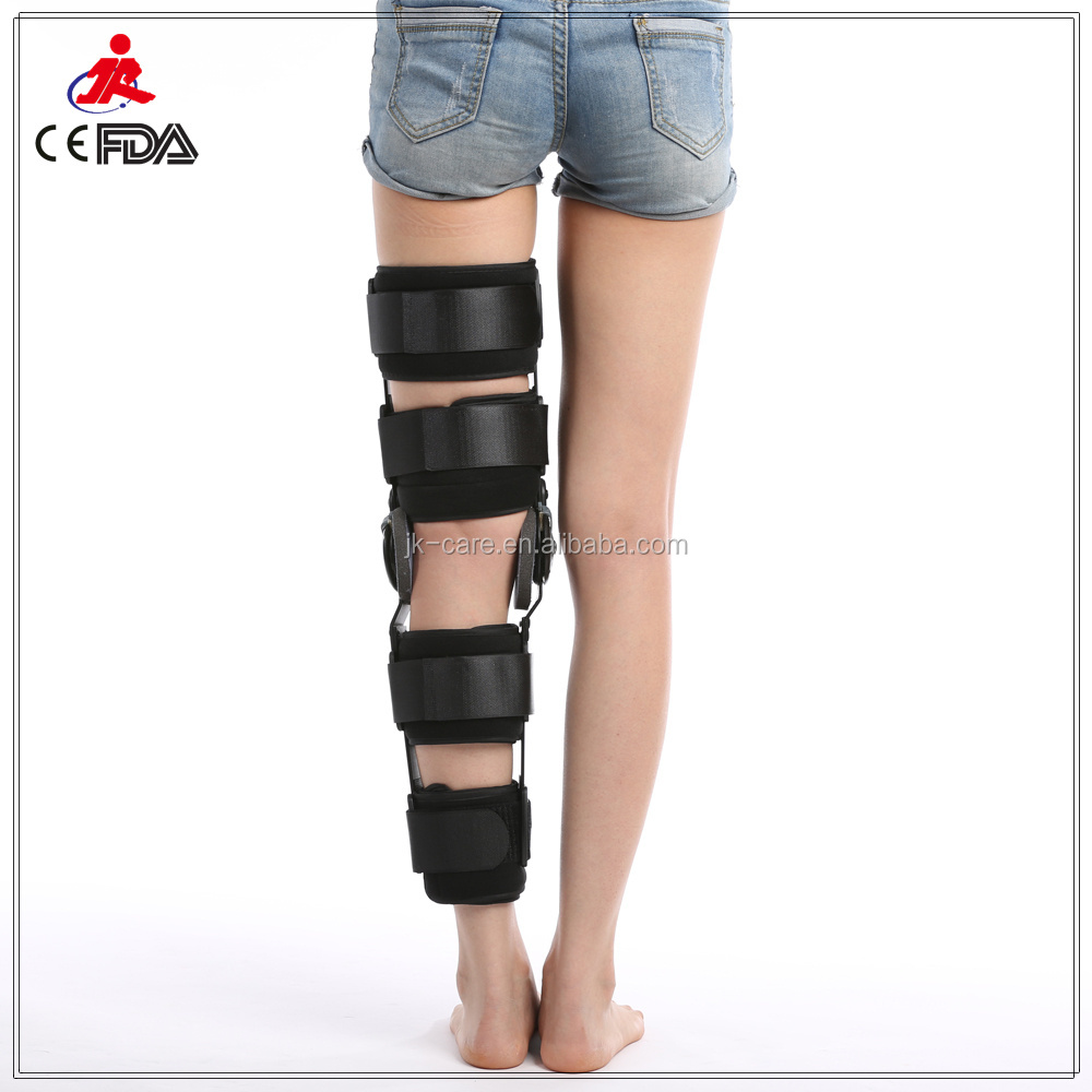 metal angle adjustable knee leg brace medical Angle adjustable knee brace Orthopedic ROM Hinged Knee brace