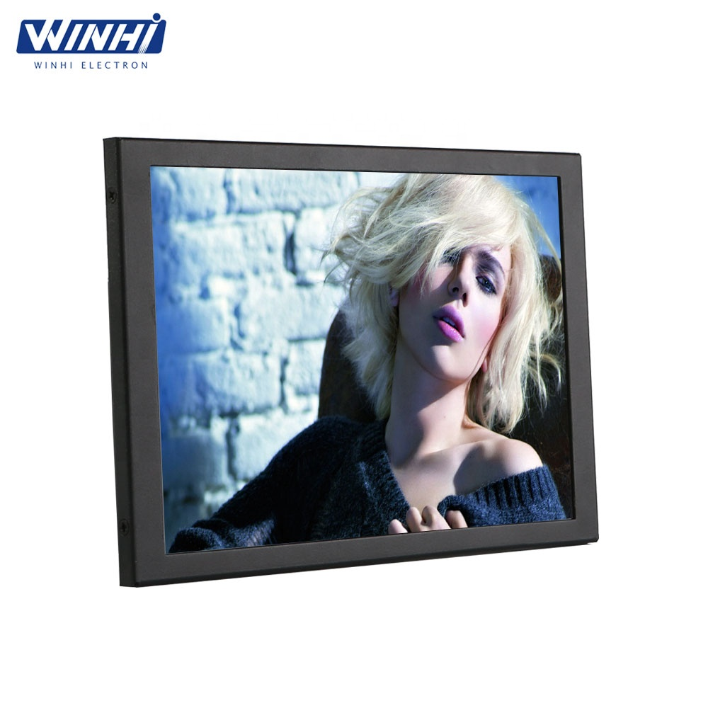 Metal case 4:3 Display VGA DVI Input 9.7 inches lcd panel tv 12 volts industrial <strong>monitor</strong>