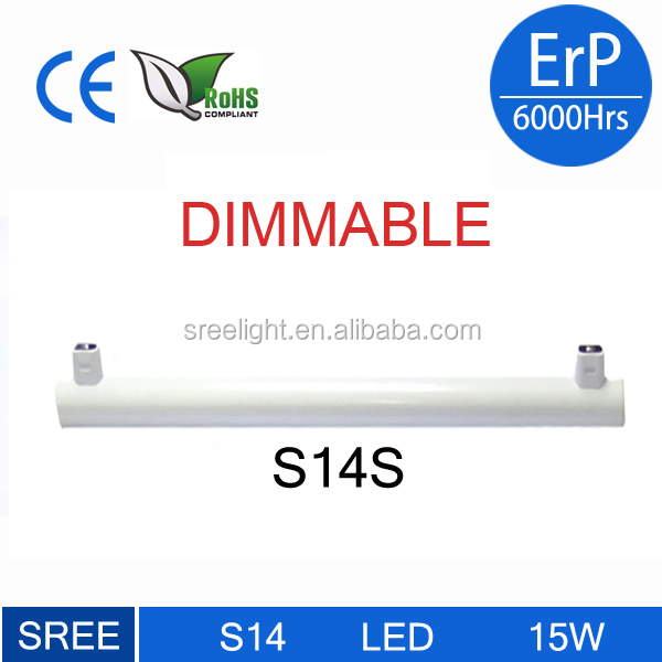 LED Tube for Kitchen / Bathroom - Base S14s - 4.5 Watts Consumed - Equivalence 60W Incandescent - diameter 500 mm