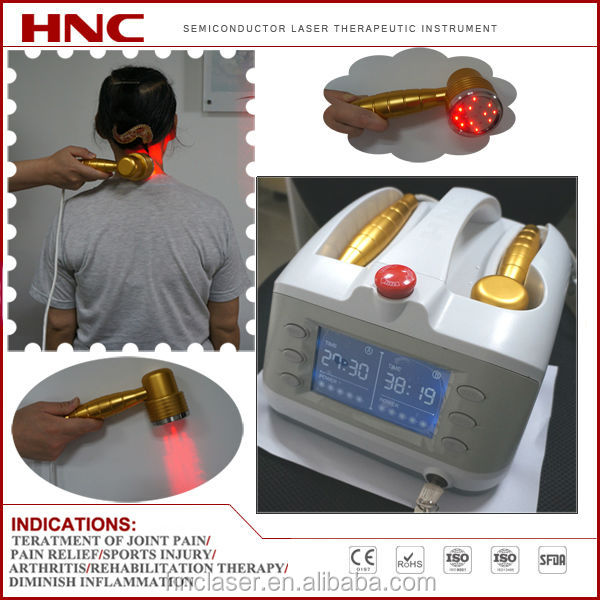 portable 808nm and 650nm soft tissue laser treatment machine for body pain relief, wounds healing