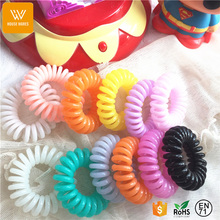 rainbow girls small elastic hair bands hot sell in Amazon,2017 jelly color hair tie
