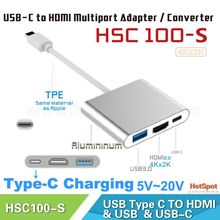 white plastic cover usb3.1 to hdmi
